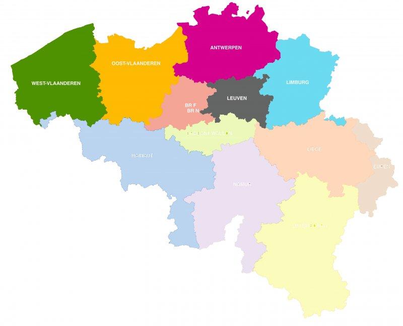 Gerechtelijke arrondissementen Modero