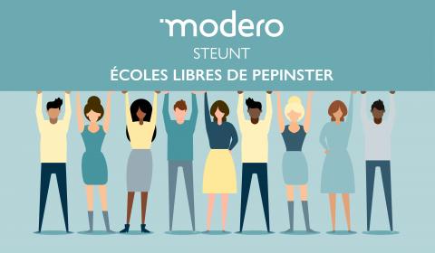 Modero soutient école de Pepinster